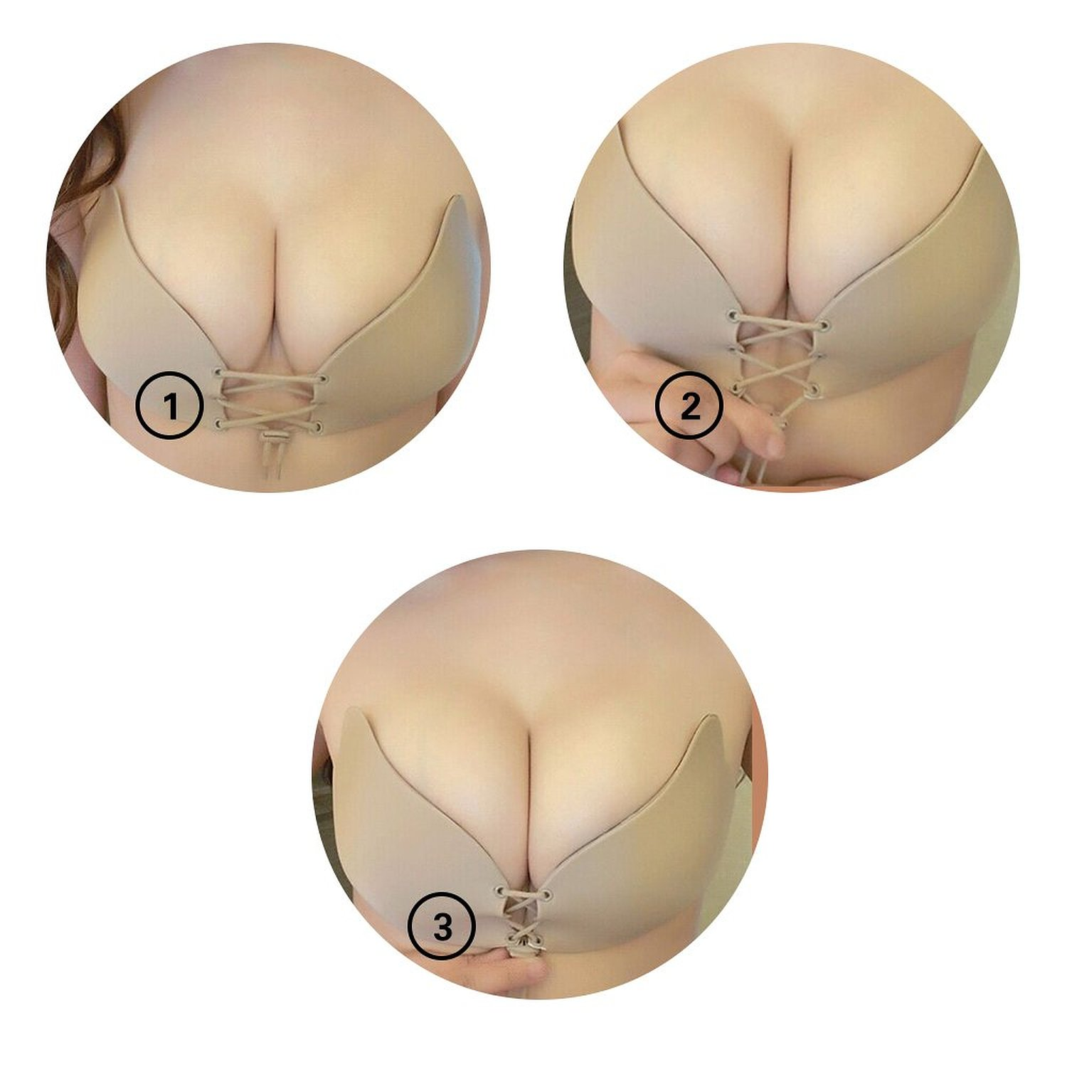 O 39 vinna nubra invisible push up bra women 39 s strapless for Best adhesive bra for wedding dress