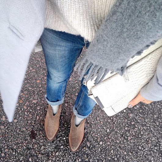 Inspiration 0011 : Light Blue denim jeans in Winter - 冬のライトブルーデニム