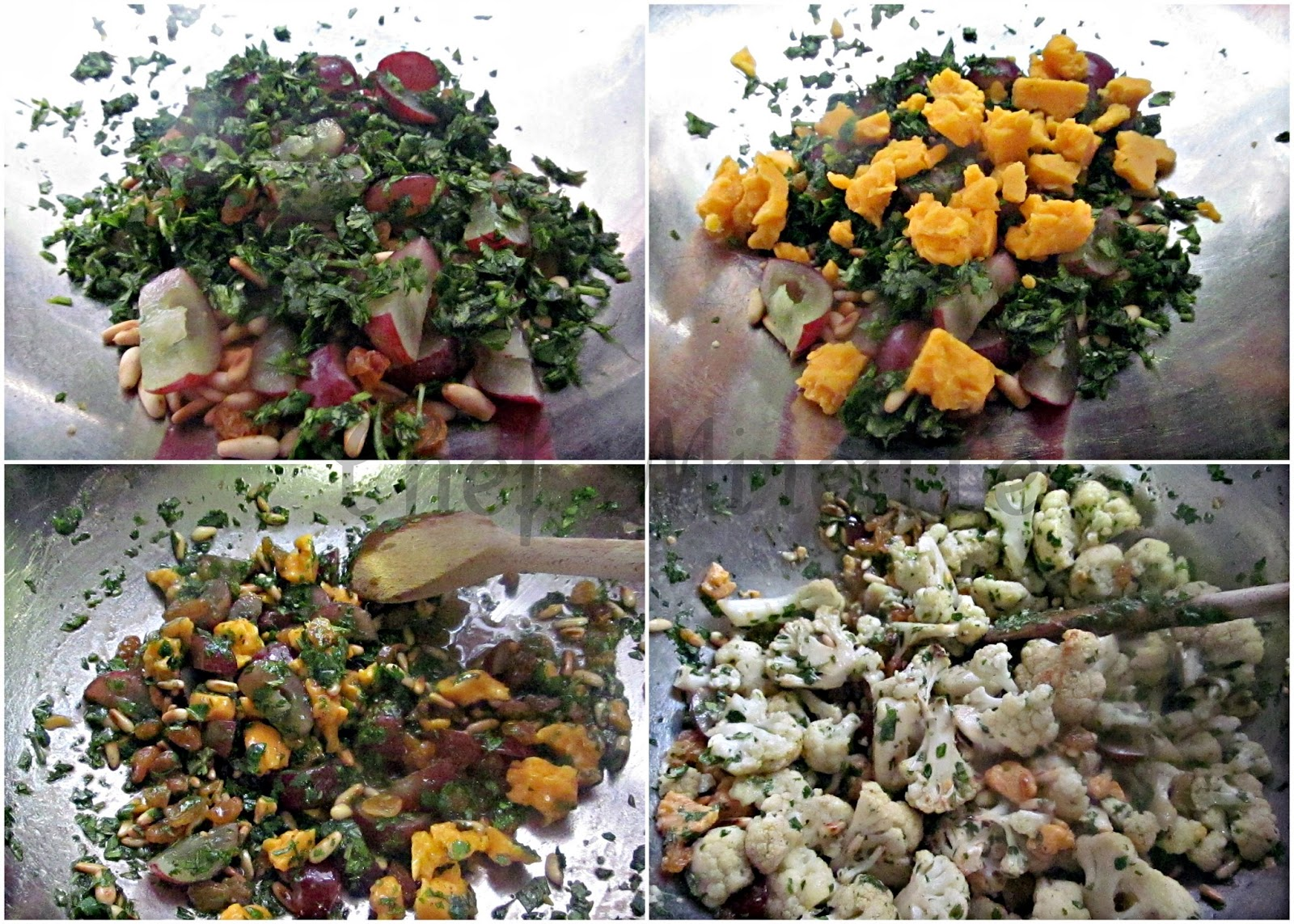 Roasted Cauliflower Grape Salad The Schizo Chef