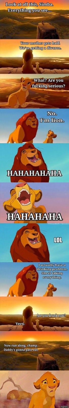 Mufasa tells Simba he's a drunk
