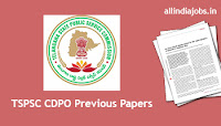 TSPSC CDPO Previous Papers