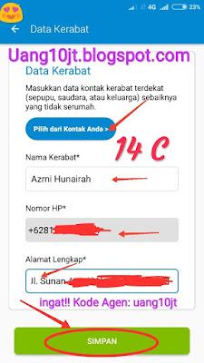 Pinjaman Tunaiku Kode Agen uang10jt KTA online Bunga kecil