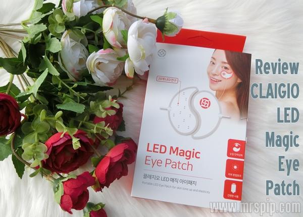 Claigio LED Magic Eye Patch mudah digunakan dan berkesan hilangkan mata panda  !