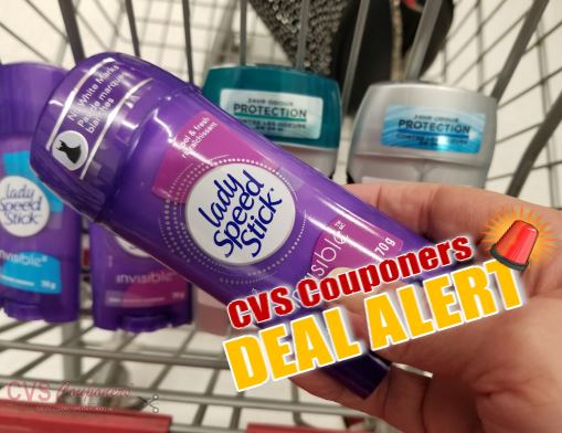 cvs couponers Lady or Men's Speed Stick Deodorants
