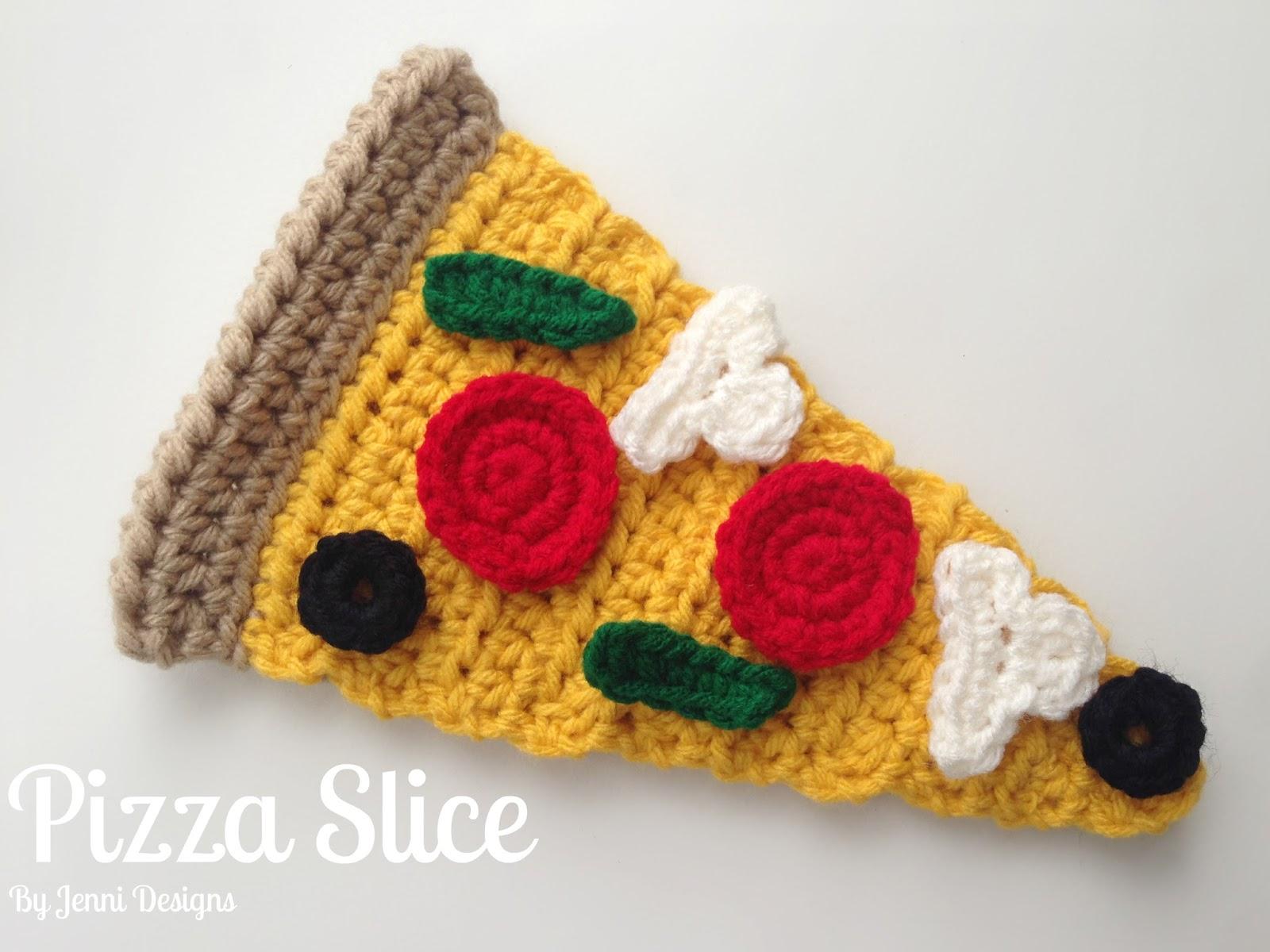 By Jenni Designs: Free Crochet Pattern: Pizza Slice & Toppings