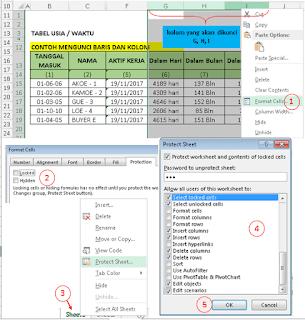 Cara Mengunci Cell Excel