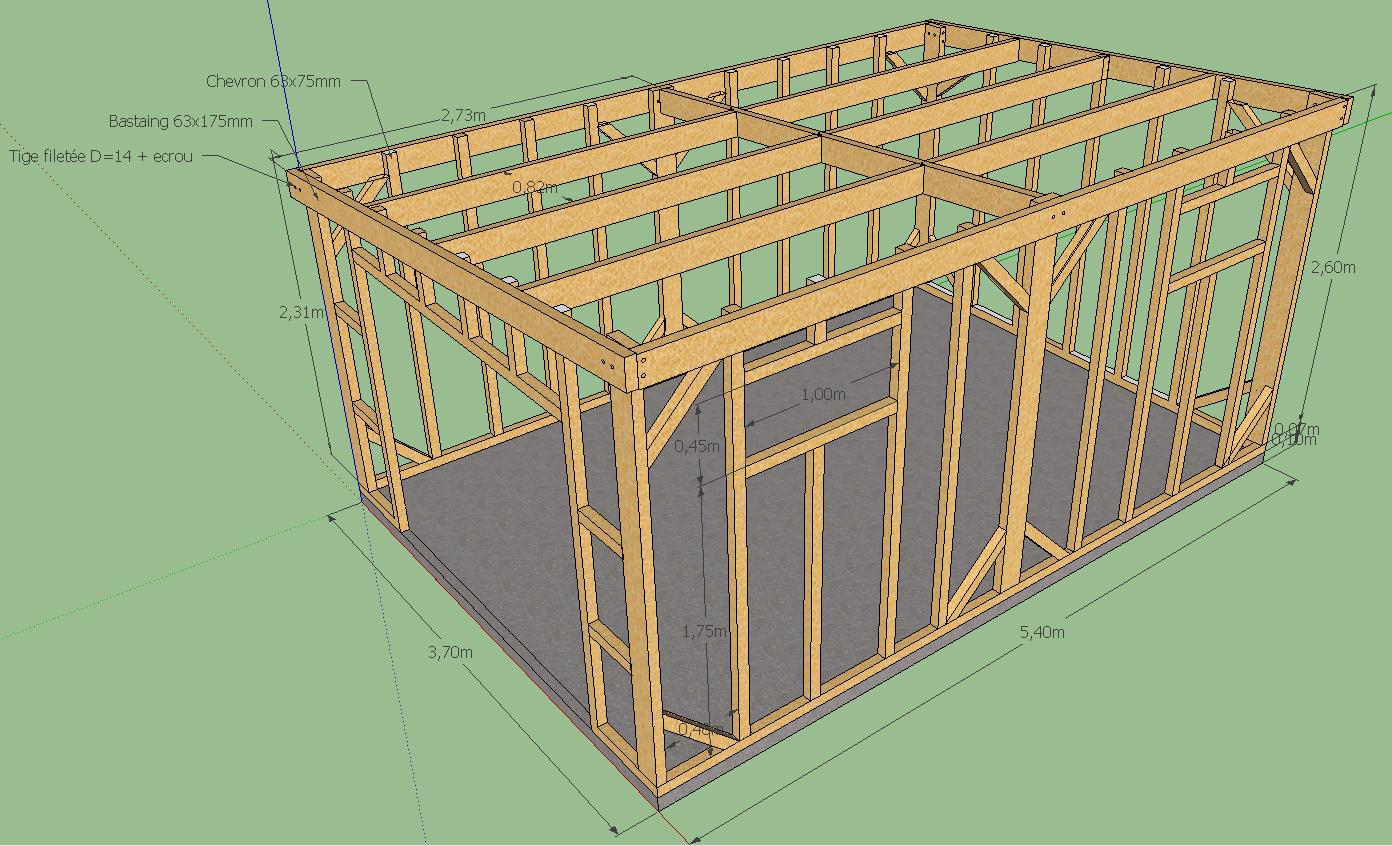 avis sur plan ossature abris de jardin 20m 20 messages. Black Bedroom Furniture Sets. Home Design Ideas
