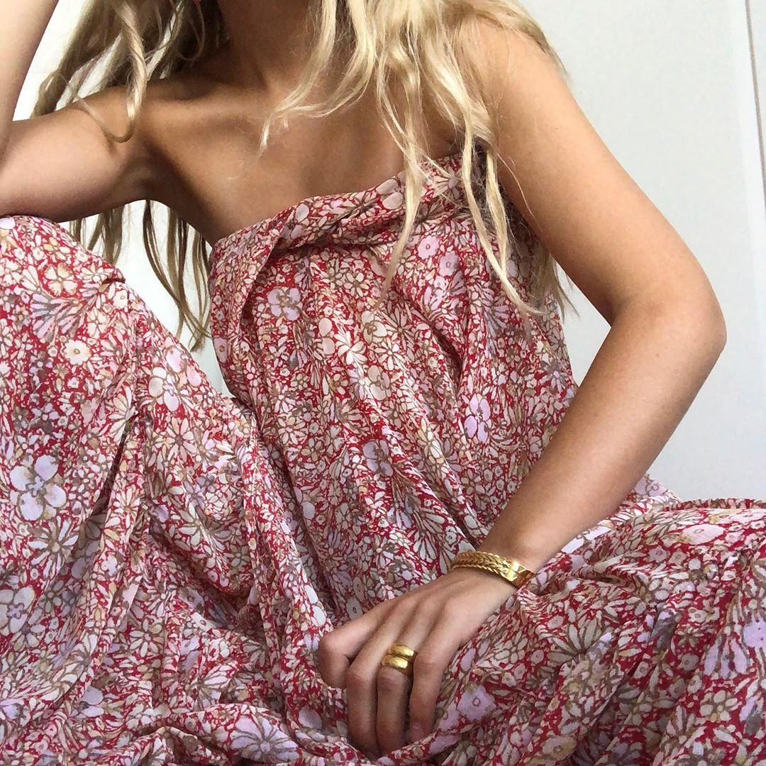 Under-$200 Floral Printed Maxi Dress
