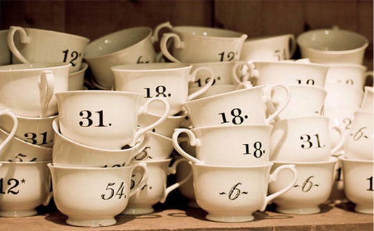 numbered teacups