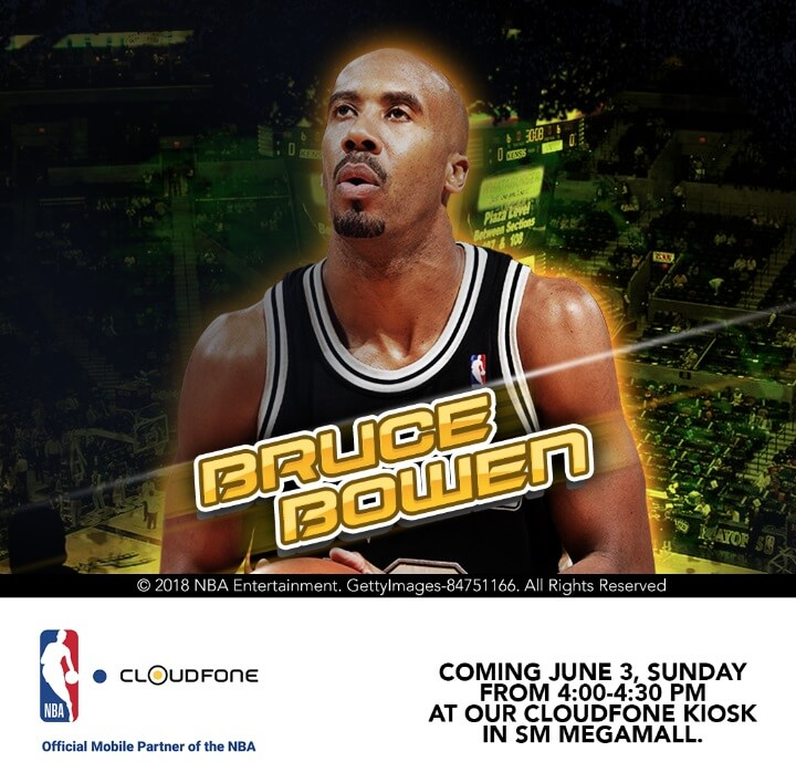 Meet and Greet NBA Legend Bruce Bowen at CloudFone Kiosk in SM Megamall