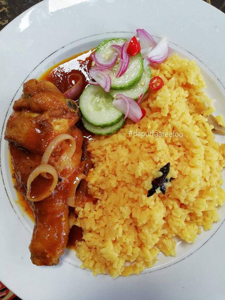 Resepi Nasi Minyak Mudah dan Sedap + Ayam Masak Merah + Acar Timun!