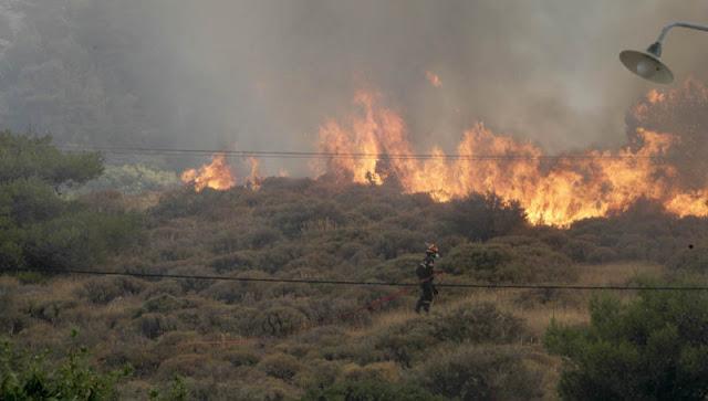 Ολυνύχτια «μάχη» με τις φλόγες σε δύο μέτωπα στην Κρήτη (βίντεο)
