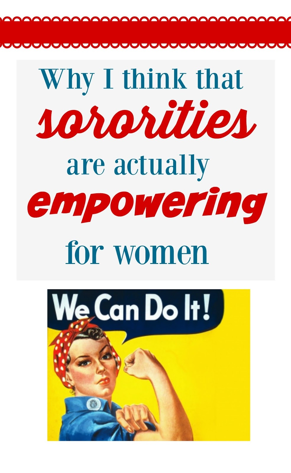 sororities are empowering to women