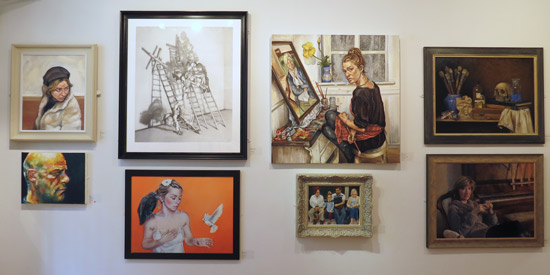 Artwork by Young Artists exhibited at the Society of Women Artists Exhibition 2015