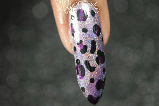 ILNP Happily Ever After & Poetry Leopard Print Accent Nail