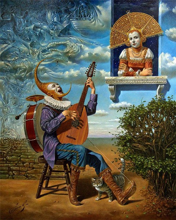 08-perfect-stranger-Michael-Cheval-Surreal-Paintings-that-Draw-inspiration-from-The-East-and-West-www-designstack-co
