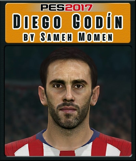 Diego Godin Face For PES 2017