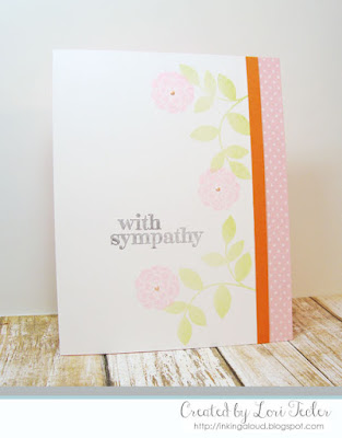 With Sympathy card-designed by Lori Tecler/Inking Aloud-stamps from Papertrey Ink