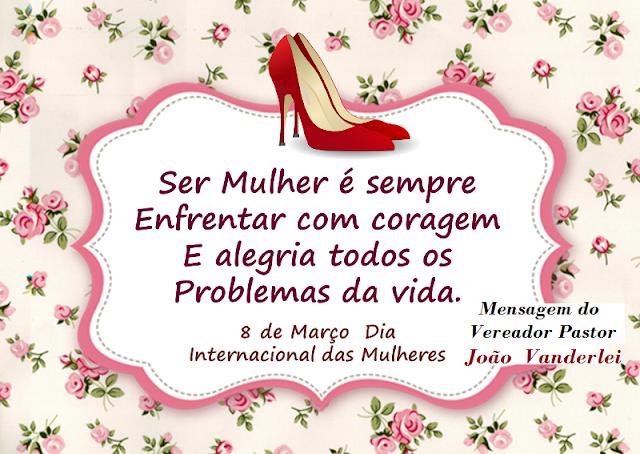Homenagem do Vereador Pastor João  Vanderlei as Mulheres