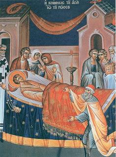 Ο άγιος κοιμήθηκε ειρηνικά το 1730