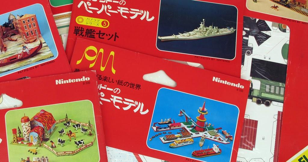 beforemario: Nintendo Paper Model series - Introduction