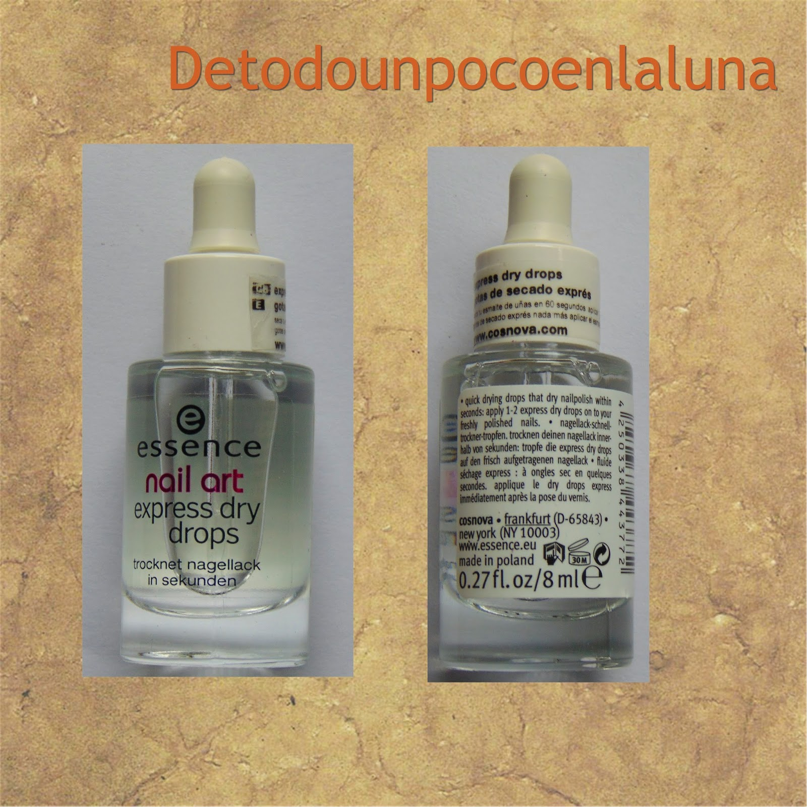 express dry drops essences gotas secantes