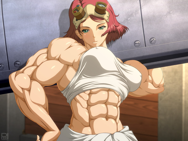 anime girls with muscles
