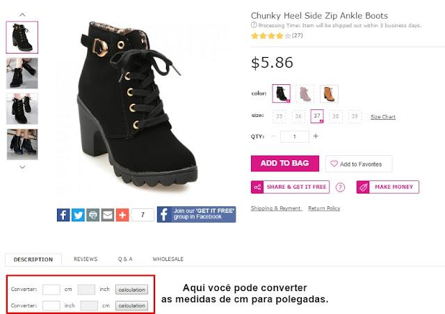 como comprar sapato em lojas da china?