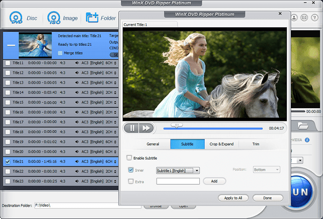 WinX DVD Ripper Platinum is a remarkable DVD ripping tool which gives you the ability to w The Ultimate DVD to MP4 Converter? A Look at WinX DVD Ripper Platinum