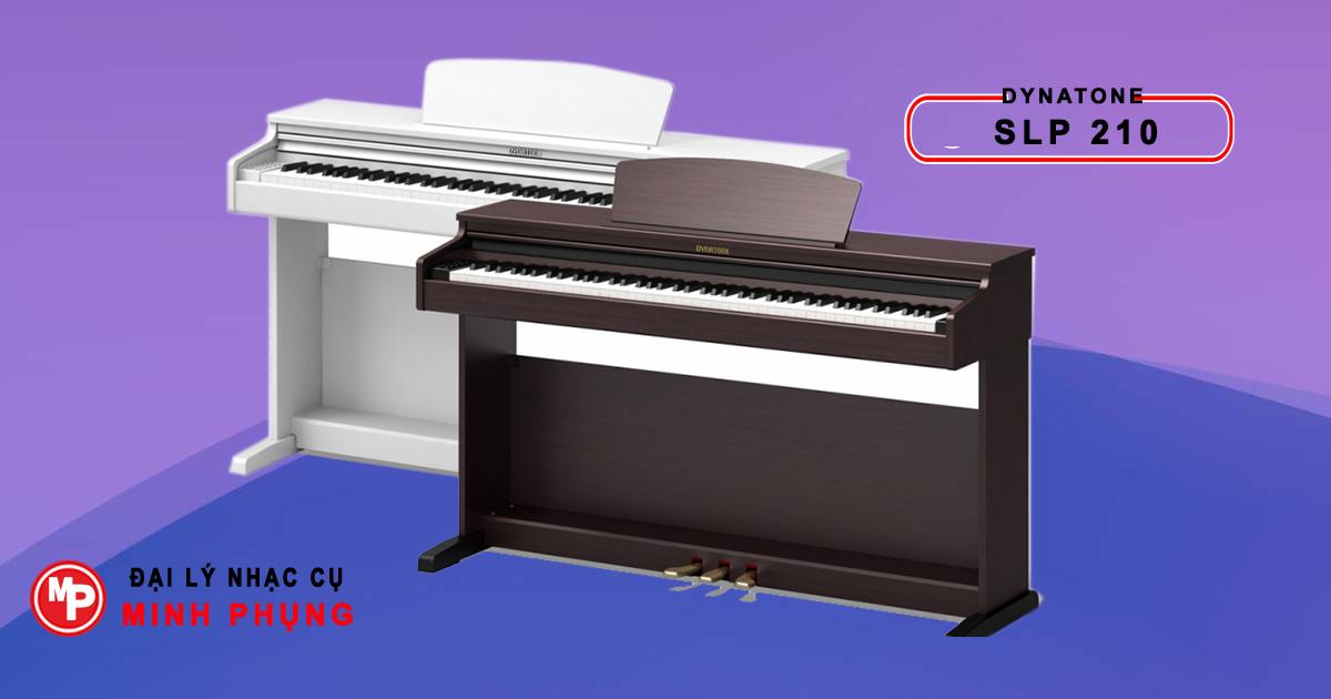 Đàn Piano Điện Dynatone có hai màu trắng và rosewood