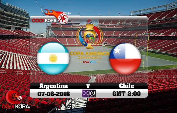مشاهدة مباراة الأرجنتين وتشيلي اليوم 7-6-2016 كوبا أمريكا