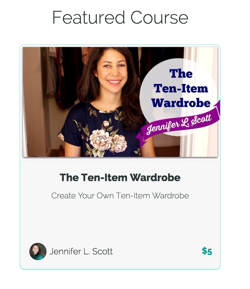 My NEW eCourse on the Ten-Item Wardrobe only $5