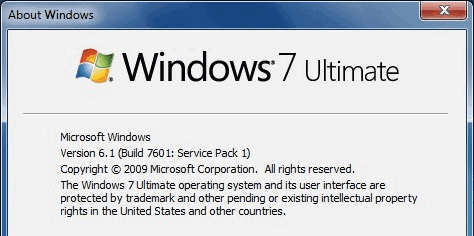 Windows 7 Ultimate Service Pack 1