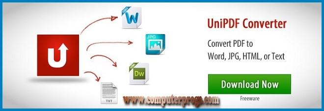 تحميل برنامج تحويل pdf الى word للكمبيوتر 2016 UniPDF converter