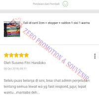 Testimoni Pembelian Tali id card 2cm
