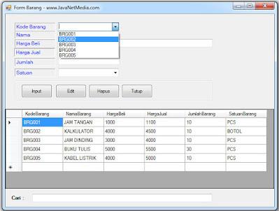 Memunculkan Item Database di ComboBox - VB .Net