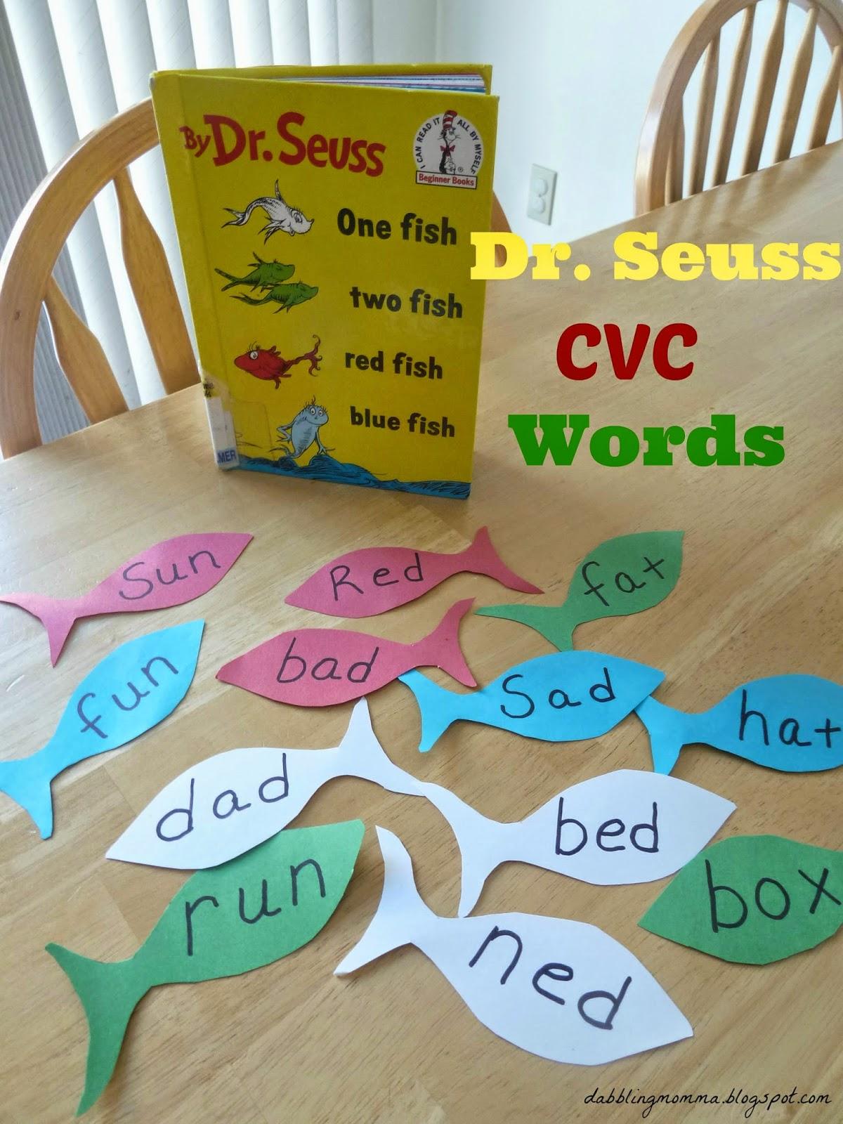 Dabblingmomma Dr Seuss Cvc Word Hunt