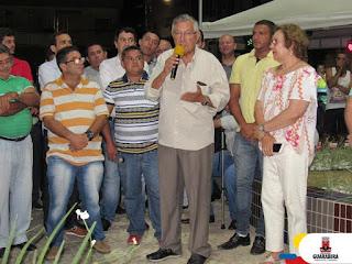 Em clima de festa a praça Antônio Galdino Guedes foi inaugurada na noite desta quinta-feira (28), no centro de Guarabira pelo  prefeito Zenóbio Toscano