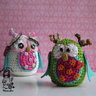 beauty of crocheting, Vendulka, DIY, crochet paterns, decoration, handmade toy, Magic with hook and needles, owl, owl amigurumi,