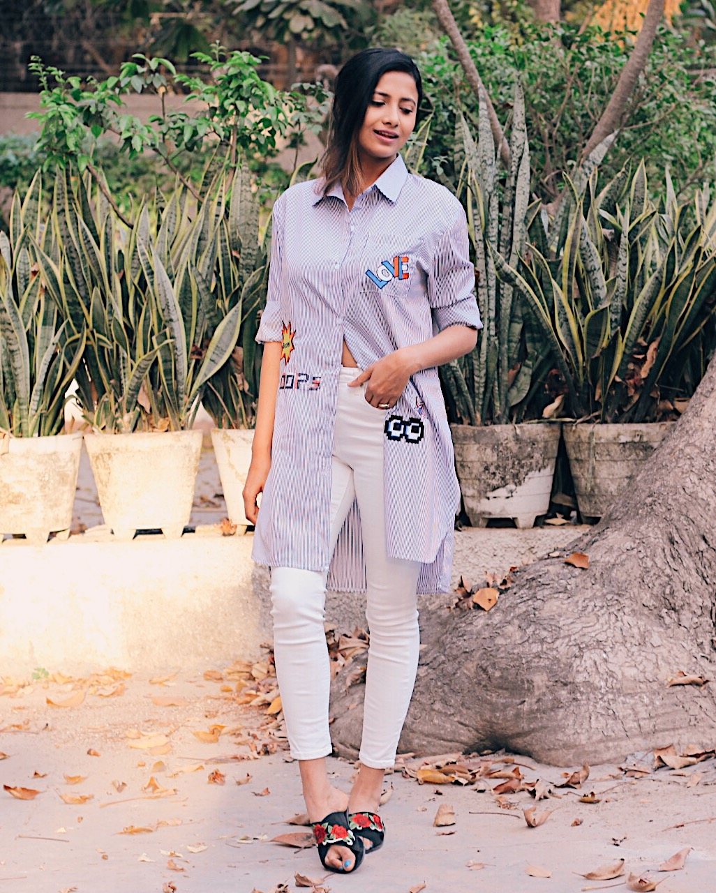 female icons who transformed fashion, indian blogger, uk blog, white denim, longline shirt, summer outfit, fresh summer look