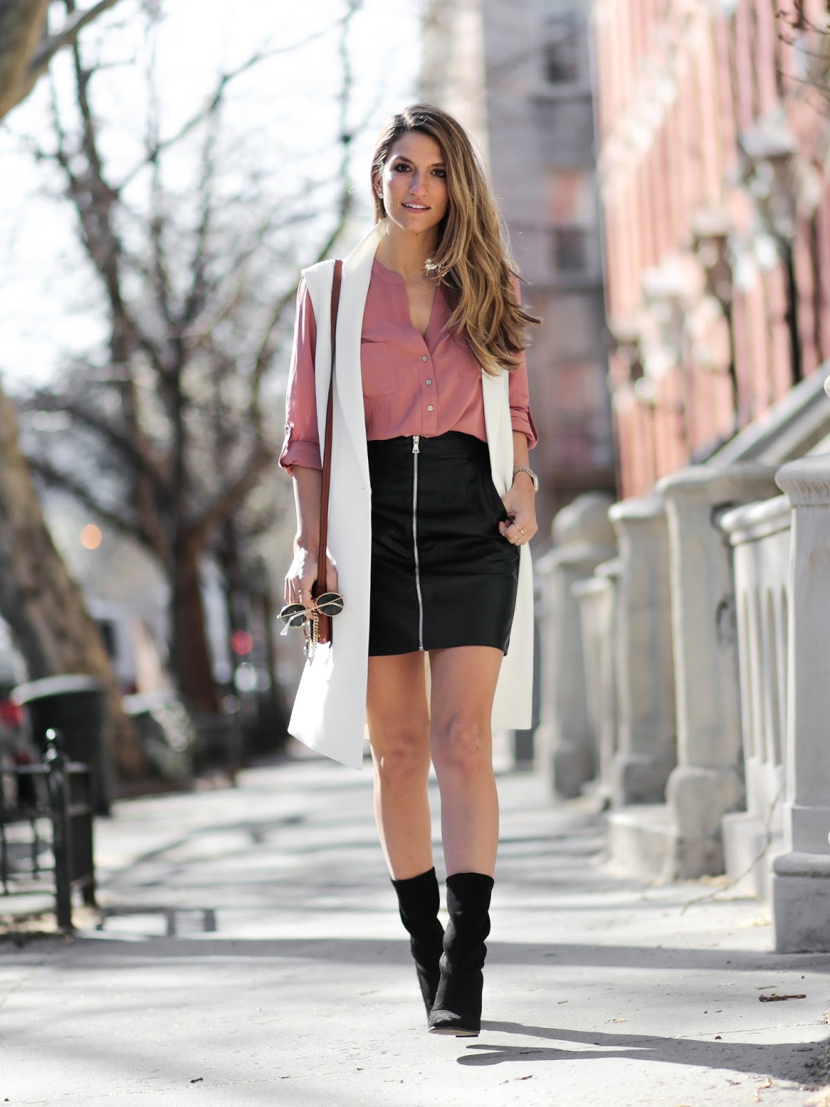 faux leather skirt, dressed for dreams
