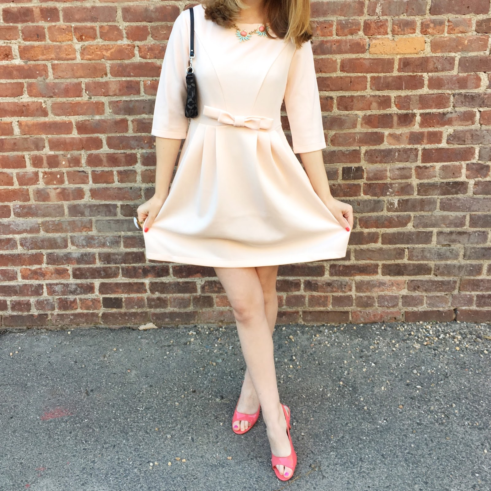 pink bow dress shein fashion blogger 2016