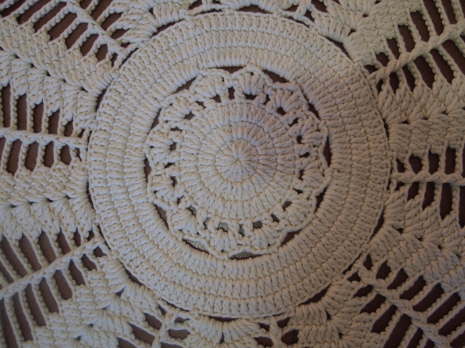 Tapete Redondo De Croche Passo A Passo Tapete De Croche Ou Toalha  -> Tapete De Croche Redondo Passo A Passo