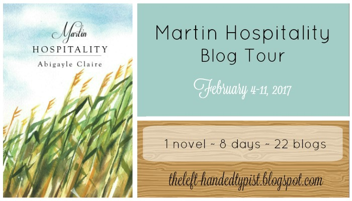 blog tour banner for martin hospitality by abigayle claire