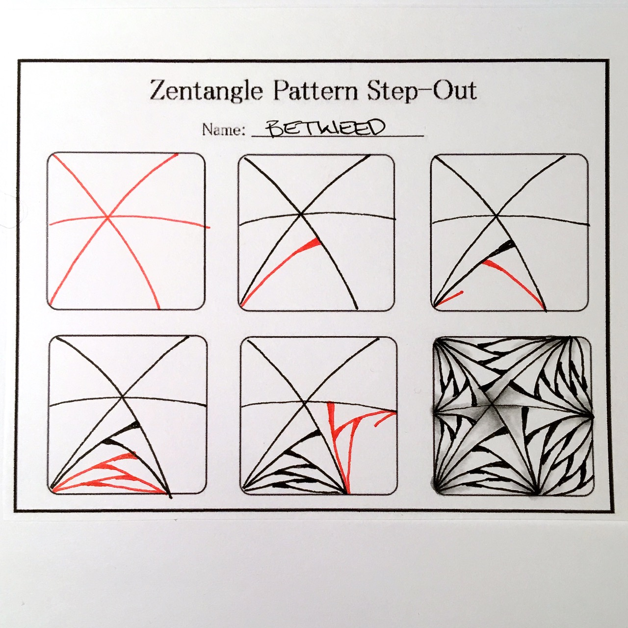 Zentangles Patterns Step By Step Zentangle Valentine's ...