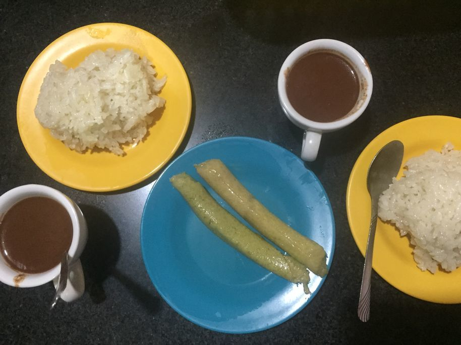 Breakfast selection from a painitan in Dumaguete City