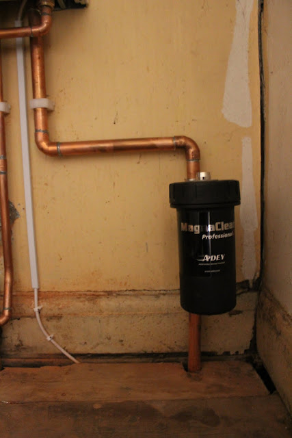 MagnaClean attached to boiler