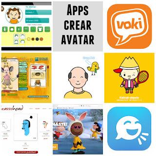 Apps y páginas web para crear avatares infantil