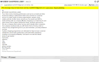 { SCAM } MYSTERY SHOPPERS JOB!