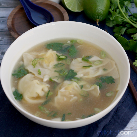 Lemongrass Chicken Dumpling Soup